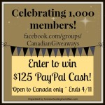 Canadian Cash Giveaway