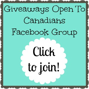 Giveaways open to Canadians