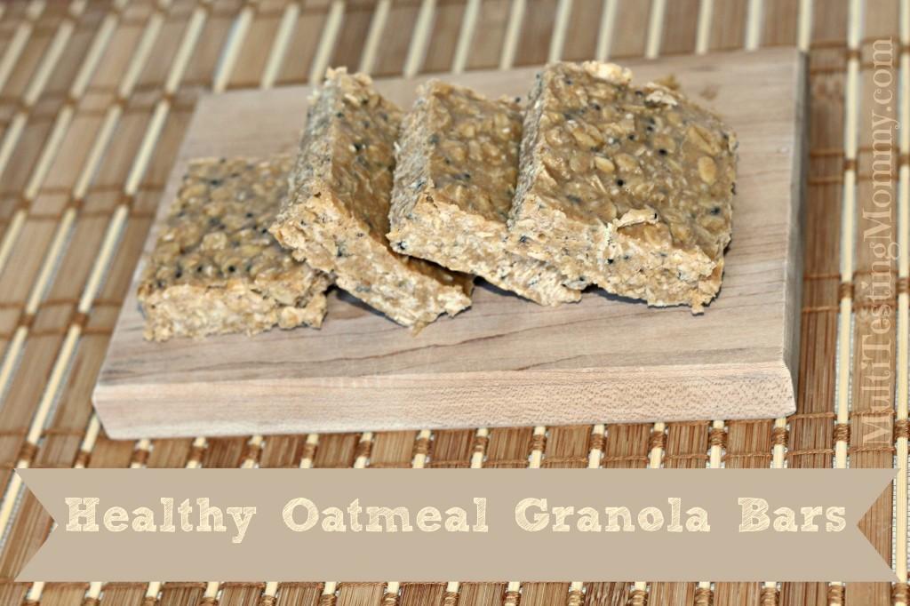 No Bake Healthy Oatmeal Granola Bars
