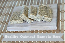 Healthy Oatmeal Granola Bars