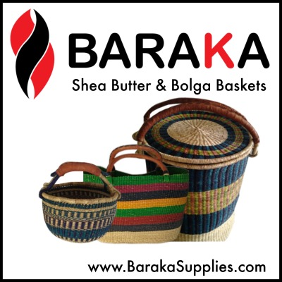 Shea Butter and Bolga Baskets