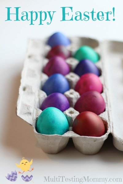 Mess Free Dying Easter Eggs