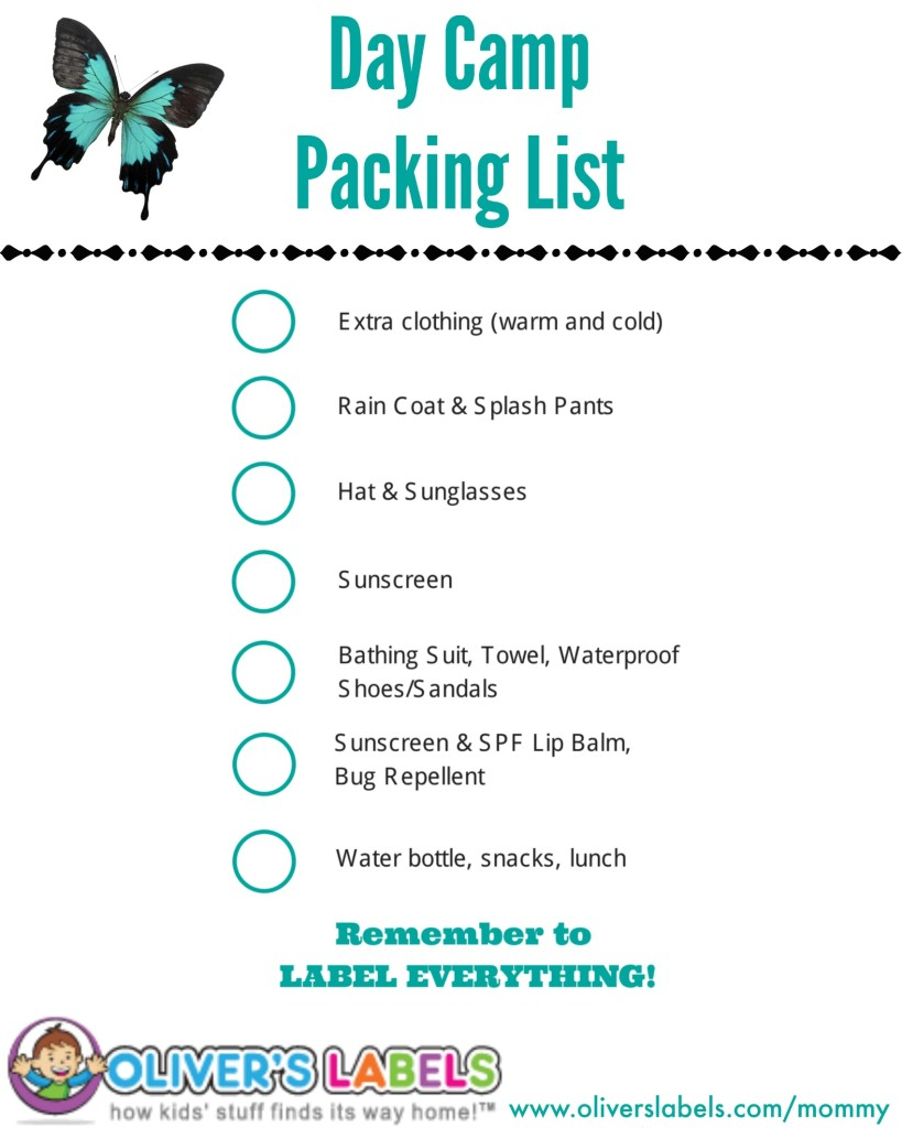 Day Camp Packing List