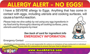 Egg Allergy Card