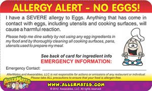 Egg Allergy Card