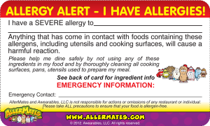 Multiple Allergy Card