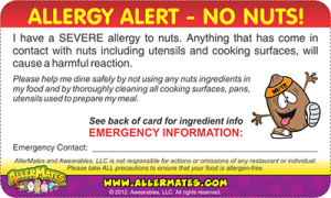 Nuts Allergy Card