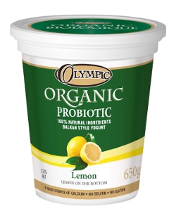 Olympic Dairy Organic Lemon 2.3 Probiotic Yogurt
