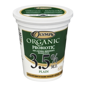 Olympic Dairy Organic Plain 3.5 Probiotic Yogurt