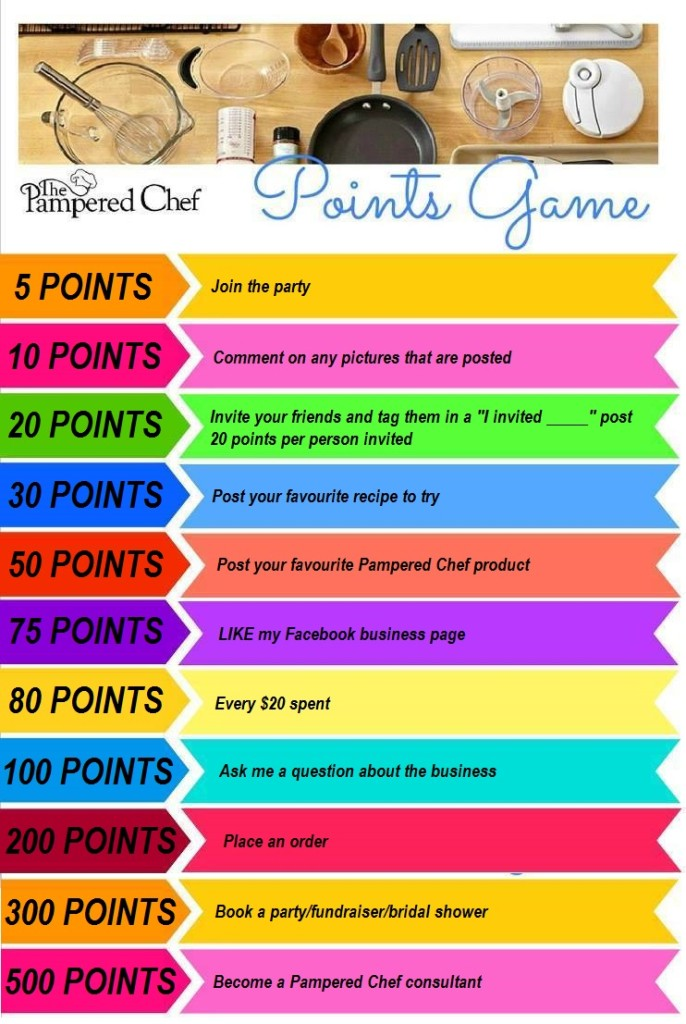Pampered Chef Party Points