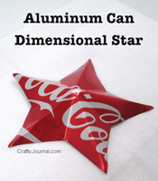 aluminum can dimensional star