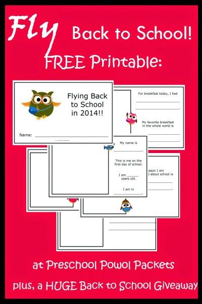 Back to school printable