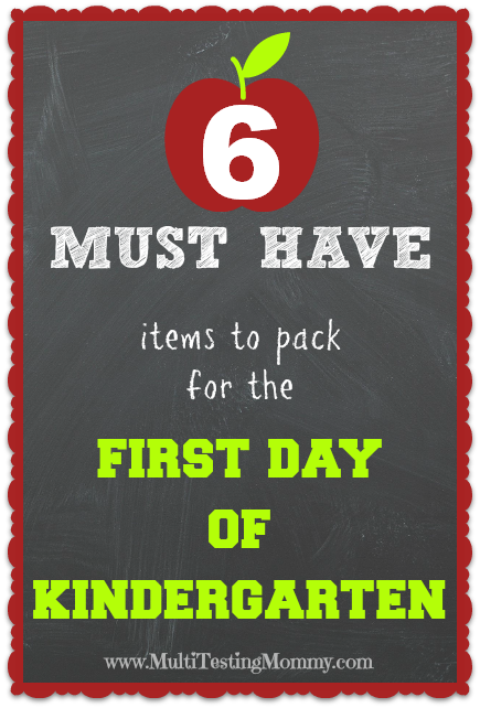 What to Pack for Kindergarten