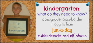 kindergarten what do they need to know