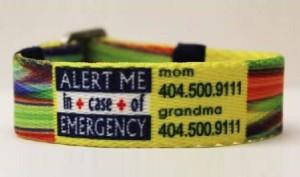 emergency alert me bracelet