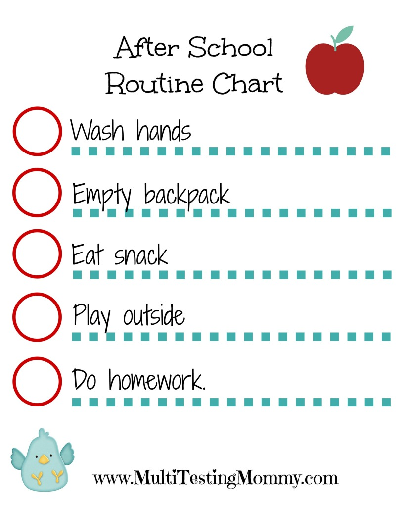 After School Checklist