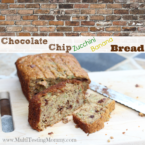 Chocolate Chip Zucchini Banana Bread | www.MultiTestingMommy.com