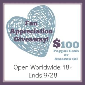 Fan Appreciation Giveaway 9-28