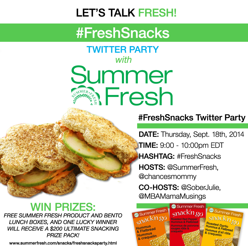 Summer #FreshSnacks Twitter Party