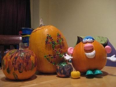 Kid Decorated Pumpkins