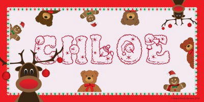 Holiday Themed Name Banners