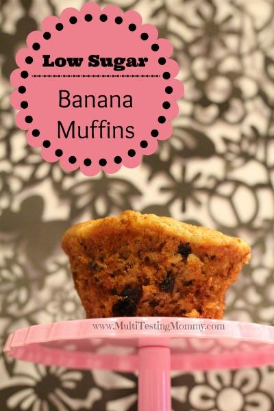 Low Sugar Banana Muffins