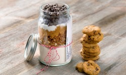 Chocolate Gingerbread Crunch Cookies - Mason Jar Cookie Mix