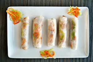 Chicken Satay Fresh Rolls