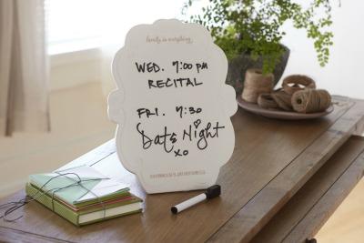 Ceramic Desktop Whiteboard with marker