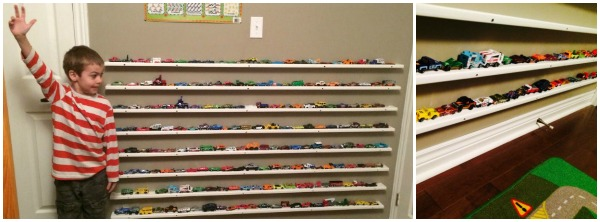 DIY Hot Wheels Shelf