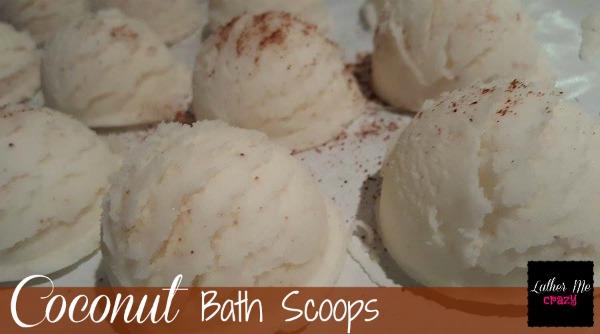 DIY Coconut Bath Scoops