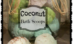 DIY Coconut Bath Scoops