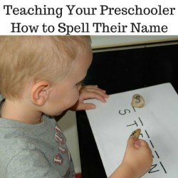 Teaching Your Preschooler How to Spell Their Name