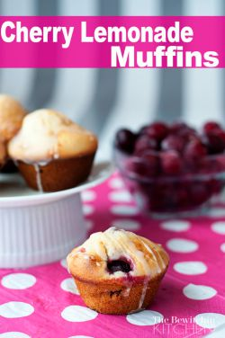 Cherry Lemonade Muffins