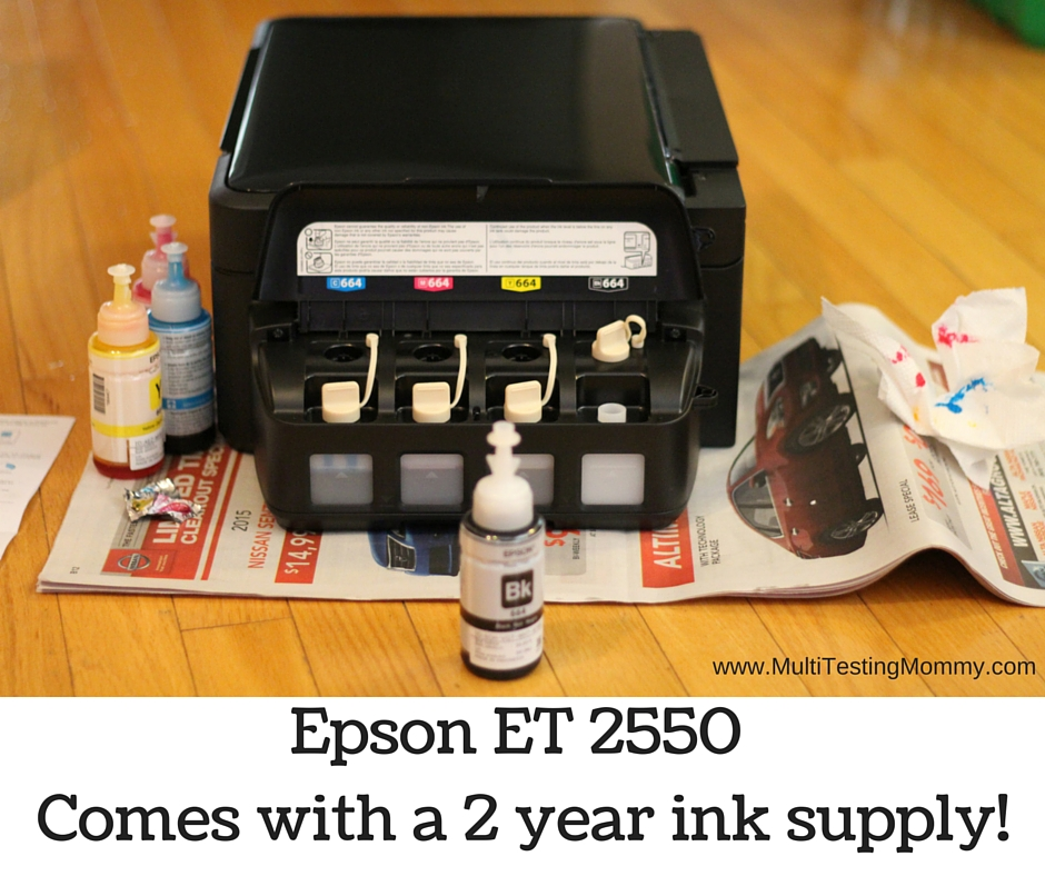 2 year printer ink supply with Epson ET 2550