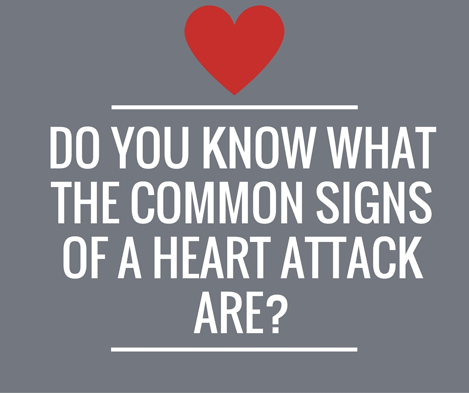 common signs of a heart attack