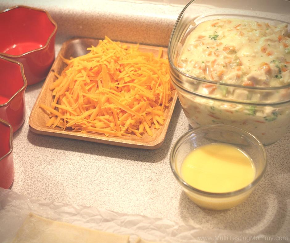 Chicken Pot Pie the Cheesy Version