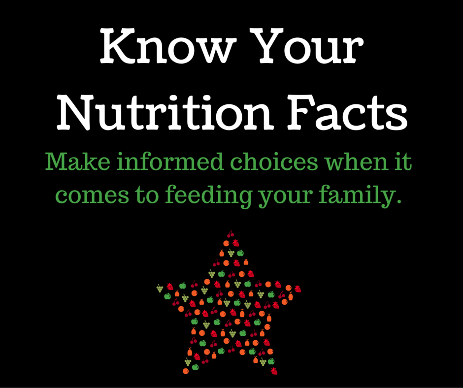 Know Your Nutrition Facts