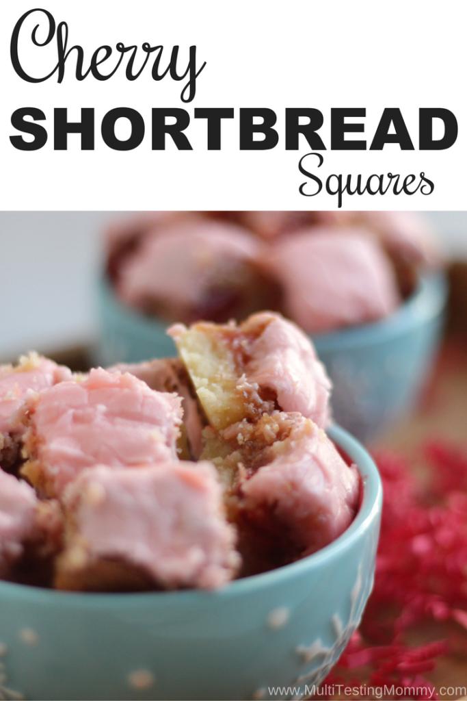 Cherry Shortbread Squares