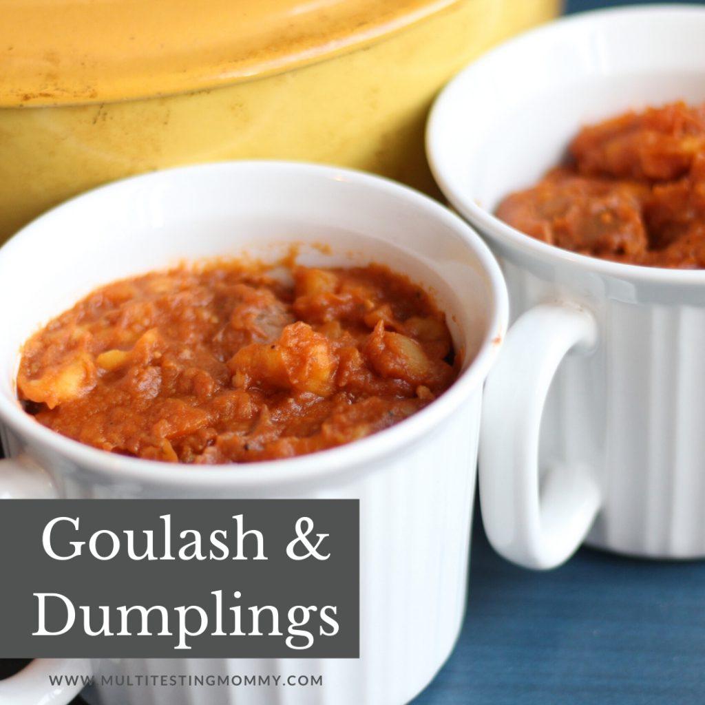 Goulash and Dumplings